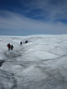 "Traversing the ""K-transect"" near kangerlussuaq, Greenland in 2010"