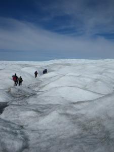 "Traversing the ""K-transect"" near kangerlussuaq, Greenland in 2010"