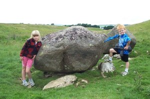 Granite Erratic, Gaythorne Plain A huge boulder of Shap granite sitting on a limestone pedestal in a dry valley on Gaythorne Plain just outside the Great Asby Scar Nature Reserve. The boulder was transported on glacial ice from the eastern Lake District. Several large boulders are found in a chain along this valley. From Geograph.org.uk