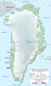 The Greenland Ice Sheet (Wikimedia commons)