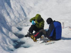Arwyn Edwards and I applying some of the techniques described in the chapter in Greenland in 2014.