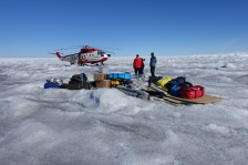 Arriving on the Greenland Ice Sheet in July 2016