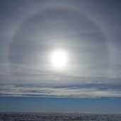 A solar halo over the Greenland Ice Sheet